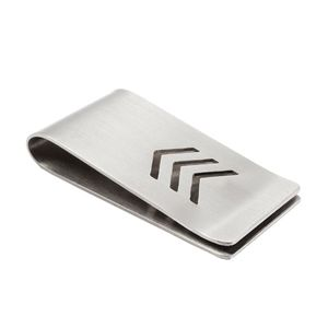 Stainless Steel Money Clip With Chevron Design